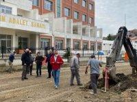 Yeni Adalet Sarayı'nın Yolu Asfaltlanıyor