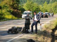 Makam aracının çarptığı sürücü hayatını kaybetti