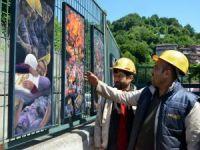 """Madencilerin Çalışma Koşulları """"Tuvale"""" Yansıdı"""