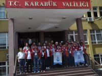"""""""Damla Projesi"""" Gönüllüleri Karabük'te"""