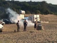 Jandarma sahillerde ataş yaktırmadı
