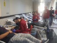 Kan bağışının 3.gününde 50 ünite bağış alındı