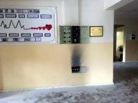 İlkokulun elektrik panosunda yangın çıktı