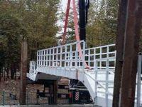 Montajı tamamlanan köprüye Kerkük adı verilecek