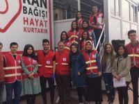 Üniversite öğrencilerinden Zeytin Dalı Harekatı için kan bağışı desteği