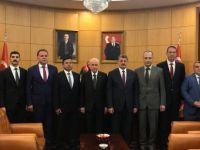 MHP Lideri Bahçeliye hayırlı olsun ziyareti