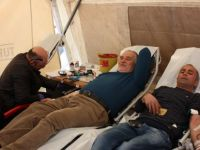 287 ünite kan bağışı ve 119 ünite de kök hücre bağışı alındı