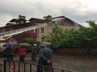 Karabük'te Yıldırım Düşen Evde Yangın Çıktı