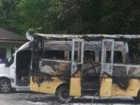 Bartın'da Park Halindeki Minibüste Yangın