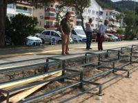 İnkumu'nda Beach Voley hazırlıkları tamamlandı