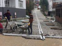 625. sokak antik parke taşlarla düzenleniyor