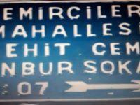 Şehit Cem Kanbur'un adı 91.sokağa verildi