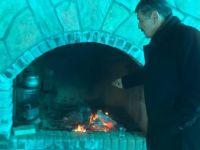Başkan Akın, taş fırın çalışmasını inceledi